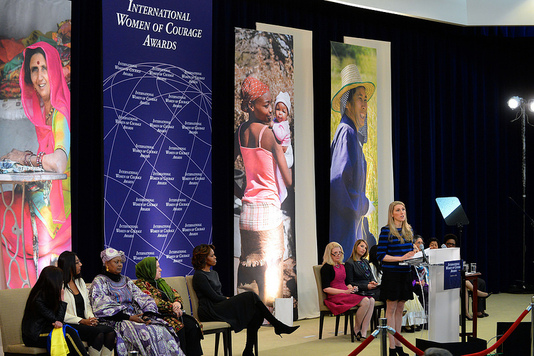 Dr. Vanessa Kerry delivers remarks at the Secretary of State's International Women of Courage Award Ceremony at the U.S. Department of State in Washington, D.C., on March 4, 2014. [State Department photo/ Public Domain]