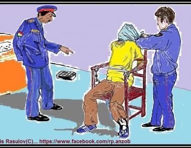Изображения пыток задержанных от читателя сайта NoTorture.Tj